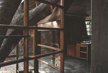 Architecture: Dark Wood & Slate