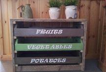 Groente en fruitkastje voor verse groente