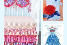 Fairies Nursery, Floral Wall Art