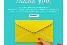 welcome/thanks/hello mail