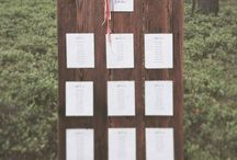Guest table/seating charts / My seating charts wedding ideas.