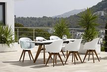 Outdoor Furniture / Break down the boundaries between in- and outdoor furniture with the elegant Adelaide range that comes with beautiful legs made of solid eucalyptus wood and several different seats to suit your exact needs. You could also go with the lighter Elba range which is perfect for balconies and courtyards.