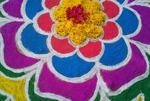 Rangoli / It describes about the Indian traditional Rangoli patterns especially south Indian Rangoli.