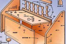 meubels, kisten en kasten maken
