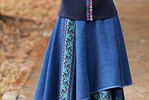 Джинсовые юбки с вышивкой
