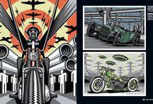 ilustraciones de motocicletas