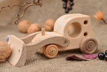 voitures en bois