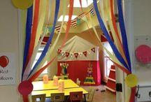 decoración del circo en preescolar