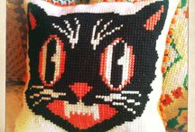 Embroidery / Embroidered pillows.