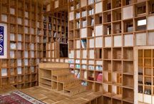 Bookshelves / Könyvespolcok