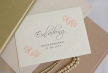 Elegant Wedding Invitations / Einen bezaubernden ersten Eindruck Ihrer Hochzeitsvorbereitungen geben Sie Ihren Gästen mit handgefertigten, originellen Einladungskarten.