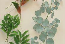 Gumpaste flowers and foliage