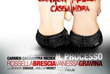 """Carmen, Medea, Cassandra / Sensualità e bellezza con Rossella Brescia e Vanessa Gravina in scena il 9 agosto al teatro romano di Nora e il 10 agosto nella zona archeologica di Tharros (Cabras) con """"Carmen, Medea, Cassandra""""."""