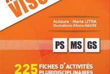 es activités variées et pluridisciplinaires pour solliciter l'attention visuelle en PS, MS et GS !