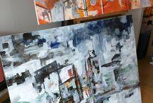 Studio Life / Pictures of my art studios and works in progress