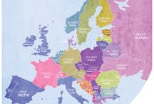Dairy Word Maps of Europe / Maps letting you know the word across Europe for your favourite  dairy products and terms.