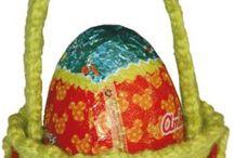 canasta para huevo de  pascua