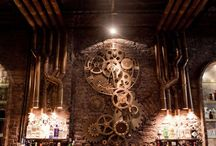 Steampunk bar