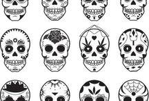 So viele schöne Totenköpfe / Very pretty  Tattoo Inspiration :)