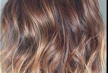 Hair Colours - rose gold/copper balayage / Hair inspiration; colours, cuts and styles