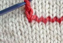 Teknikker strikk hekle