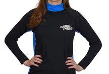 UV Rash Guards for Women / UV sun protection rash guards or swim shirts for women...perfect for the beach.