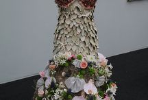 Dresses made with fresh flowers