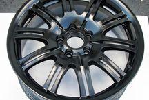 Satin Black Powder Coat / Satin Black/Semi Gloss Black powder coating powder.