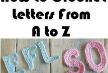 how to crochet letters from A to z