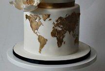 worldmap cakes