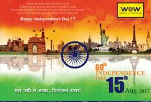 Independence Day 2015 / WOW Wishes everyone a very happy Independence Day.