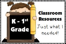K-1st Grade Classroom Resources / A Pinterest Board full of K-1st Grade Classroom Resources. Blog posts, products, freebies, ideas, bulletin boards, activities, task cards, and anchor charts for the K-1st Grade Classrooms.  / by Stacy @Teacher's Take-Out