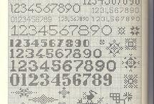 Cross stitch numbers