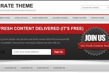 Genesis child Themes for WordPress  / A sample of WordPress themes produced by StudioPress using the Genesis theme framework. Genesis has built in SEO, lean code and stunning graphics.