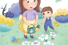 Luna illustrations / Illustrations jeunesse, illustrations enfant, livres enfant