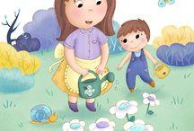 Luna illustrations / Illustrations jeunesse, illustrations enfant, livres enfant