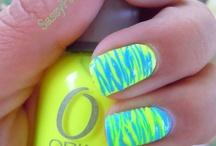 estilos de uñas neon