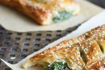 Spinach and filo rolls