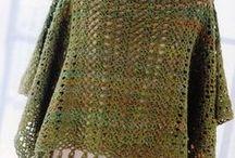 Ponchos e capas em tricôt e croché