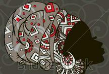 Helous Afrika,Austrálie umění