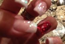 Christmas festive nails