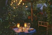 Garden lights / Lights and pergolas