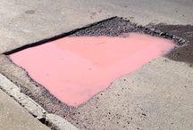 Pink rocks....