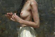 Karen Offutt / Born and raised in Dallas, Texas, 1967. Impressionist Figurative painter