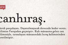bazı kelimeler çok güzel ✒