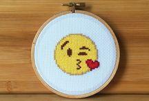 Emoji cross stitch