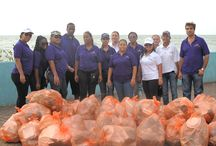 ~ Labour Day Reef Clean Up Campaign with The Belize City Council ~ / On 1 May, 2014, Labour Day, the staff of DI Belize teamed up with the Belize City Council along with other organizations and schools, to clean up Belize City.  As Mayor Bradley explained, Belize was celebrating Reef Week which entailed the preservation of our barrier reef and extended that to the preservation and clean up of our City. In line with this theme, Diamonds International was placed responsible for the area that's nearest to us, San Cas Park and the seawall in the same area.