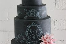 Chalkboard wedding cakes