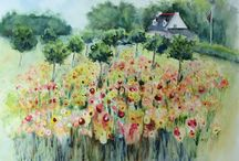 Watercolour plants and flowers / Watercolour, with its translucence and flow, is an ideal medium for painting plants and flowers.