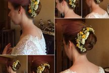 Hair flowers / Hairstyles with flowers
